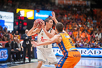 VALENCIA, SPAIN - June 11: Jaycee Carroll and  Nedovic during SEMI FINAL ENDESA LEAGUE match between Valencia Basket Club and Real Madrid Basket at Fonteta Stadium on June 11, 2015 in Valencia, Spain