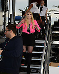 SUNRISE, FL - DECEMBER 21: Singer/songwriter Meghan Trainor backstage at Y100's Jingle Ball Village, Y100's Jingle Ball 2014 official pre-show at BB&T Center on December 21, 2014 in Sunrise, Florida.  (Photo by Johnny Louis/jlnphotography.com)
