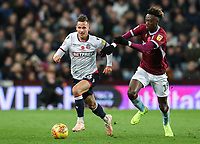 Bolton Wanderers' Pawel Olkowski competing with Aston Villa's Tammy Abraham<br /> <br /> Photographer Andrew Kearns/CameraSport<br /> <br /> The EFL Sky Bet Championship - Aston Villa v Bolton Wanderers - Friday 2nd November 2018 - Villa Park - Birmingham<br /> <br /> World Copyright &copy; 2018 CameraSport. All rights reserved. 43 Linden Ave. Countesthorpe. Leicester. England. LE8 5PG - Tel: +44 (0) 116 277 4147 - admin@camerasport.com - www.camerasport.com