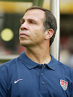 Head Coach Bruce Arena. The USA tied South Korea, 1-1, during the FIFA World Cup 2002 in Daegu, Korea.