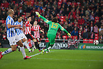 Football match during La Copa del rey, between the teams Athletic Club and Malaga CF<br /> Bilbao, 30-01-14<br /> aduriz scores the goal<br /> Rafa Marrodán&Alex Zugaza/PHOTOCALL3000