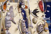 Cu'pik Artist Henry Shavings sells his Native Alaska art at the 2008 World Eskimo Indian Olympics in Fairbanks, Alaska.