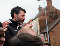 Lincoln City manager Danny Cowley applauds fans during the Open Top Bus parade through Lincoln<br /> <br /> Photographer Chris Vaughan/CameraSport<br /> <br /> The EFL Sky Bet League Two - Lincoln City - Champions Parade - Sunday 5th May 2019 - Lincoln<br /> <br /> World Copyright © 2019 CameraSport. All rights reserved. 43 Linden Ave. Countesthorpe. Leicester. England. LE8 5PG - Tel: +44 (0) 116 277 4147 - admin@camerasport.com - www.camerasport.com
