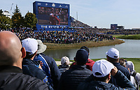 Big screen at the 16th  during Saturday's Fourballs, at the Ryder Cup, Le Golf National, &Icirc;le-de-France, France. 29/09/2018.<br /> Picture David Lloyd / Golffile.ie<br /> <br /> All photo usage must carry mandatory copyright credit (&copy; Golffile | David Lloyd)