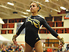 Gillian Dolitsky of Commack performs her floor routine during the Suffolk County varsity girls' gymnastics individual championships at Babylon High School on Friday, November 6, 2015.<br /> <br /> James Escher