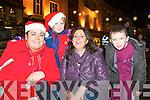 Anna Johansen, Aimee Coffey, Katherine Coffey and Aaron Coffey delighted by Santa arrival at the Christmas in Killarney parade on Friday night....