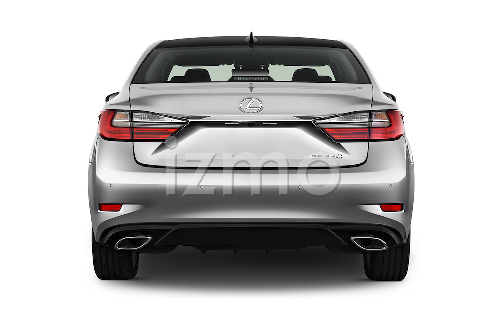 Straight rear view of 2016 Lexus ES 350 4 Door Sedan 2WD Rear View  stock images