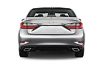 Straight rear view of 2017 Lexus ES 350 4 Door Sedan 2WD Rear View  stock images