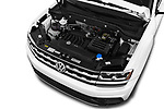 Car stock 2019 Volkswagen Atlas SE 5 Door SUV engine high angle detail view