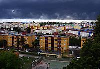 SAO PAULO, 19 DE FEVEREIRO DE 2013. - CLIMA TEMPO SP - Nuvens de chuva se formam na regiao de Ermelino Matarazzo na zona leste de São Paulo, na tarde desta terça feira, 19. (FOTO: ALAN MORICI / BRAZIL PHOTO PRESS).