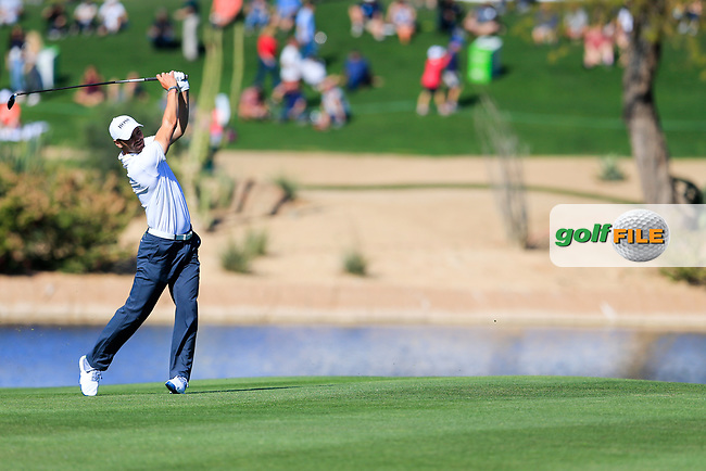 Martin Kaymer (GER) on the 15th during the 2nd round of the Waste Management Phoenix Open, TPC Scottsdale, Scottsdale, Arisona, USA. 01/02/2019.<br /> Picture Fran Caffrey / Golffile.ie<br /> <br /> All photo usage must carry mandatory copyright credit (&copy; Golffile | Fran Caffrey)