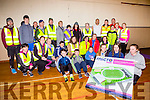 Keelie O'connor, Aoibhe O'Doherty and Mia Wilkens and the Killarney Born 2 run group at their run Monday evening
