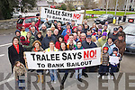 The Bank bailout protest march at the Kerry County Council Buildings in Tralee on Sunday last.