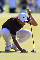 Alexander Levy (FRA) on the 3rd green during Saturday's Round 3 of the 2018 Turkish Airlines Open hosted by Regnum Carya Golf &amp; Spa Resort, Antalya, Turkey. 3rd November 2018.<br /> Picture: Eoin Clarke | Golffile<br /> <br /> <br /> All photos usage must carry mandatory copyright credit (&copy; Golffile | Eoin Clarke)