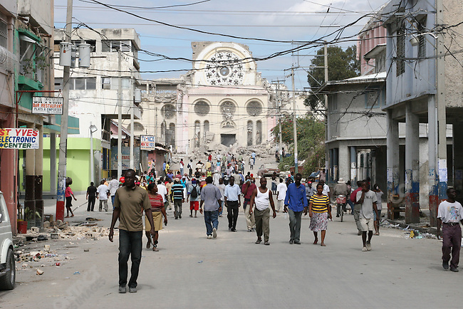 Aftermath of earthquake, Port-au-prince, Haiti, January 15, 2010