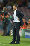 Ernesto Valverde of Athletic during the match between SSC Napoli and Athletic Club Bilbao, play-offs First leg Champions League at the San Paolo Stadium onTuesday August 19, 2014 in Napoli, Italy. (Photo by Marco Iorio)<br />