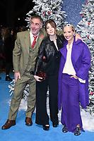 """LONDON, UK. November 11, 2019: Greg Wise, Emma Thompson and daughter, Gaia arriving for the """"Last Christmas"""" premiere at the BFI Southbank, London.<br /> Picture: Steve Vas/Featureflash"""