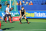 The Hague, Netherlands, June 01: Nick Haig #4 of New Zealand looks on during the field hockey group match (Men - Group B) between the Black Sticks of New Zealand and Korea on June 1, 2014 during the World Cup 2014 at GreenFields Stadium in The Hague, Netherlands. Final score 2:1 (1:0) (Photo by Dirk Markgraf / www.265-images.com) *** Local caption ***