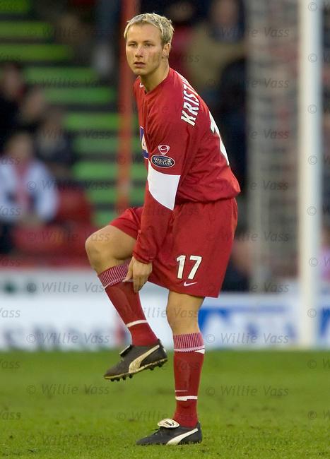 Thorarinn Kristjansson, Aberdeen.stock season 2004-2005.pic willie vass