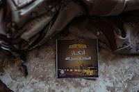 IRAK, Sheik Amir; Paper of Daesh propaganda left in a house of the town of Sheik Amir where they used to live, 6th December 2016. <br /> <br /> IRAK, Sheik Amir; Papier de propagande de Daesh laiss&eacute; dans une maison de Sheik Amir o&ugrave; ils vivaient, 6 d&eacute;cembre 2016.
