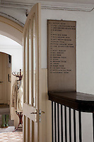In the servants quarters, a key to the bells lists the names of the rooms to which they are connected by an ingenious system of pulleys and wires