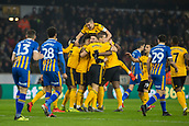 5th February 2019, Molineux Stadium, Wolverhampton, England; FA Cup football, 4th round replay, Wolverhampton Wanderers versus Shrewsbury Town; Matt Doherty of Wolverhampton Wanderers celebrates with his team after scoring in the 2nd minute 1-0