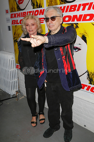 New York, NY - September 22 : Debbie Harry and musician Chris Stein attend Blondie's 40th Anniversary Exhibition Hosted by Jeffrey Deitch held at the Chelsea Hotel Storefront Gallery on September 22, 2014 in New York City. (Photo by Brent N. Clarke / MediaPunch)