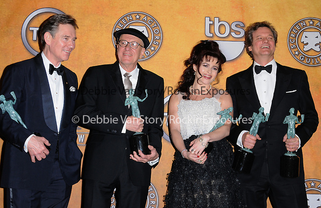 Anthony Andrews,Geoffrey Rush,Helena Bonham Carter and Colin Firth attends the 17th Annual Screen Actors Guild Awards held at The Shrine Auditorium in Los Angeles, California on January 30,2011                                                                               © 2010 DVS / Hollywood Press Agency