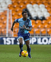 Anthony Stewart of Wycombe Wanderers during the The Checkatrade Trophy match between Blackpool and Wycombe Wanderers at Bloomfield Road, Blackpool, England on 10 January 2017. Photo by Andy Rowland / PRiME Media Images.