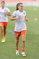 Houston, TX - Saturday Sept. 03, 2016: Andressa Machry prior to a regular season National Women's Soccer League (NWSL) match between the Houston Dash and the Orlando Pride at BBVA Compass Stadium.