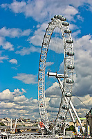 The landmark tourist attraction in London, the London Eye