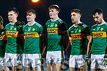 Jack Barry Diarmuid O'Connor  Gavin O'Brien Adrian Spillane Jack Sherwood Kerry players before the Allianz Football League Division 1 Round 3 match between Kerry and Dublin at Austin Stack Park in Tralee, Kerry on Saturday night.