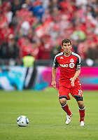 Toronto FC midfielder Nathan Sturges #11 in action during an MLS game between Sporting Kansas City and the Toronto FC at BMO Field in Toronto on June 4, 2011..The game ended in a 0-0 draw...