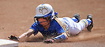 Western Nevada College Wildcats' Samantha Bell dives safely into third during a preseason softball game against Shasta College in Reno, Nev., on Saturday, Sept. 20, 2014.<br /> Photo by Cathleen Allison