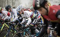 Eli Yserbyt (BEL/U23/Marlux-Napoleon Games) sprinting off the start grid<br /> <br /> 2016 CX UCI World Cup Zeven (DEU)