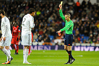 Real Madrid´s Raphael Varane during 2014-15 La Liga match between Real Madrid and Sevilla at Santiago Bernabeu stadium in Alcorcon, Madrid, Spain. February 04, 2015. (ALTERPHOTOS/Luis Fernandez) /NORTEphoto.com