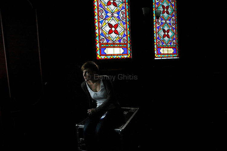 A woman at the Tempel Synagogue in Kazimerz during a concert. <br /> <br /> Before the fall of communism in Poland, the former Jewish neighborhood of Kazimerz in Krakow was run down and dangerous to visit at night. Today, the area draws thousdands of tourists a year from around the world. The neighborhood was once a bustling center of Jewish life before it was wiped out during WWII. Jewish-themed restaurants and cafes serve traditional Jewish and Polish cuisine and restored synagogues contain exhibits detailing pre-war Jewish life in Poland. Some controversy exists over anti-Semitic paintings and woodwork in some gift shops and restaurants. Kazimerz is also the center of Krakow's night life, where tourists and students visit a variety of bars and night clubs. Klezmer music has seen a comeback as well, and musicians play concerts weekly. A short walk across the river to the south takes you to the former wartime ghetto and Oscar Schindler's factory, famously depicted in Steven Spielberg's film Schindler's List. The film was one of the determining factors in bringing attention to the Kazimerz district, resulting in massive restoration efforts.