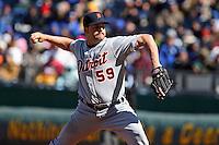 Detroit RHP Todd Jones in action at Kauffman Stadium in Kansas City, Missouri on April 7, 2007.  The Tigers won 6-5.