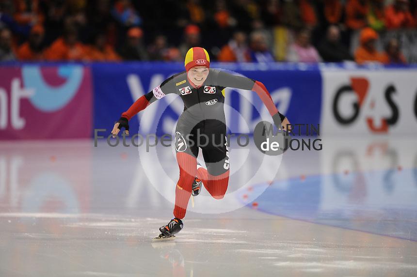 SCHAATSEN: HEERENVEEN: IJsstadion Thialf, 12-01-2013, Seizoen 2012-2013, Essent ISU EK allround, 500m Ladies, Jelena Peeters (BEL), ©foto Martin de Jong