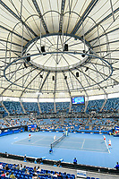 8th January 2020; Sydney Olympic Park Tennis Centre, Sydney, New South Wales, Australia; ATP Cup Australia, Sydney, Day 6; Croatia versus Argentina; a general view of the new roof at the Ken Rosewall Arena - Editorial Use