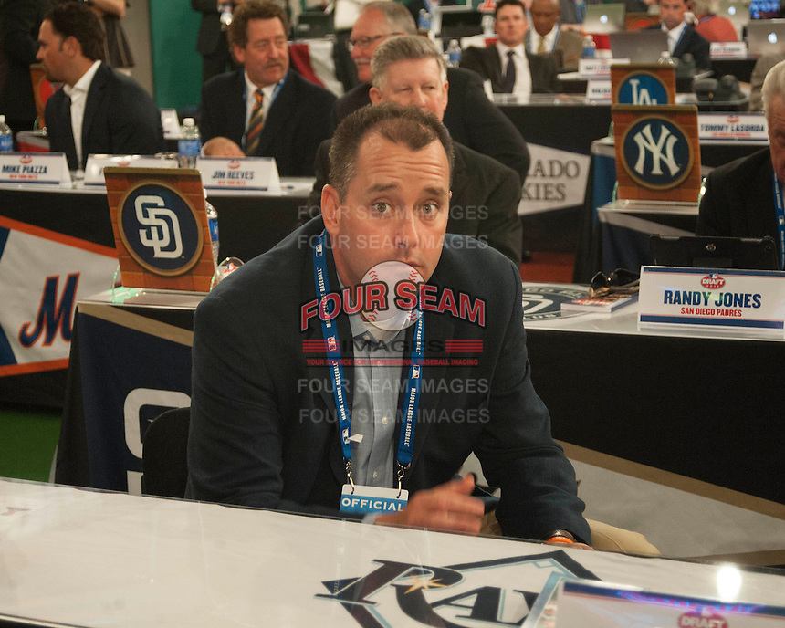 Former Tampa Bay Rays pitcher Dan Wheeler during the MLB Draft on Thursday June 05,2014 at Studio 42 in Secaucus, NJ.   (Tomasso DeRosa/ Four Seam Images)