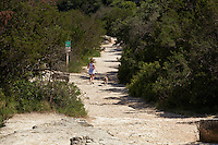 Mt. Bonnell is a runners paradise with steep inclines up and down the cliff
