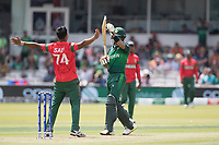 As Mohammad Saifuddin (Bangladesh) celebrate Babar Azam (Pakistan) calls for a review during Pakistan vs Bangladesh, ICC World Cup Cricket at Lord's Cricket Ground on 5th July 2019
