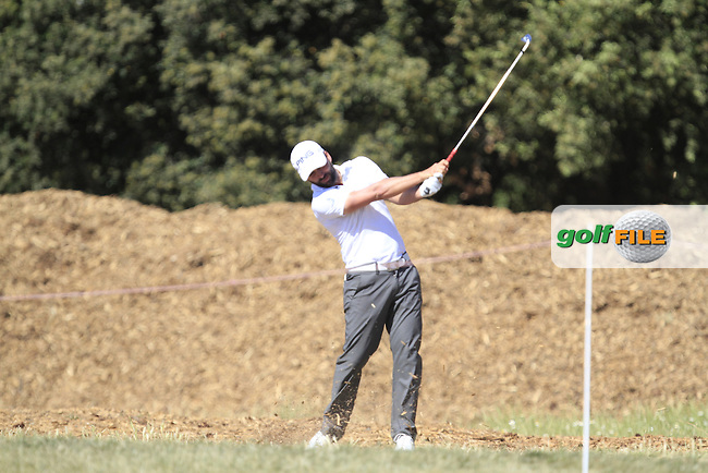 John Parry (ENG) on the 18th during Round 3 of the Open de Espana  in Club de Golf el Prat, Barcelona on Saturday 16th May 2015.<br /> Picture:  Thos Caffrey / www.golffile.ie