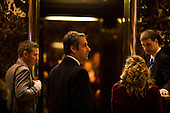 Lawyer Michael Cohen arrives at Trump Tower in Manhattan, New York, U.S., on Thursday, Thursday, January 12, 2017. <br /> Credit: John Taggart / Pool via CNP
