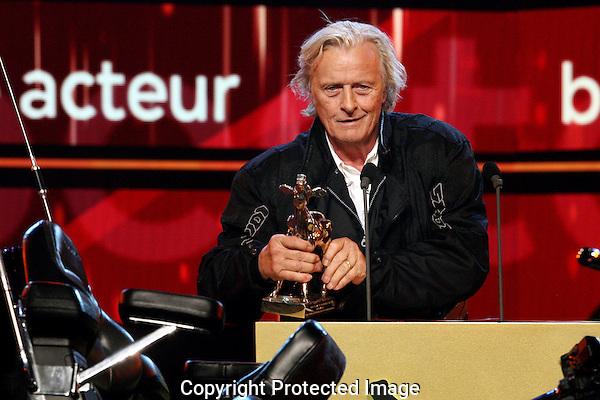 20121005 - Utrecht - Foto: Ramon Mangold - Nederlands Film festival, NFF 2012, Gala van de Nederlandse FIlm. Uitreiking Gouden Kalf voor Beste Acteur door Rutger Hauer.