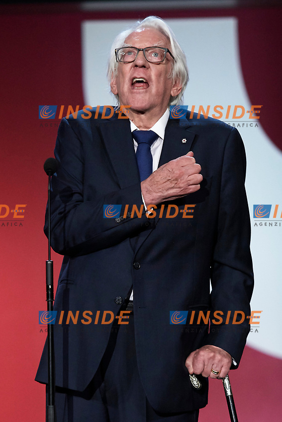 Donald Sutherland receive the donostia award during the 67th San Sebastian Donostia International Film Festival - Zinemaldia.September 26,2019.(ALTERPHOTOS/Yurena Paniagua)<br /> Photo Alterphotos / Insidefoto <br /> ITALY ONLY