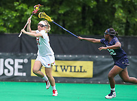 College Park, MD - May 19, 2018: Maryland Terrapins Meghan Siverson (37) scores a goal during the quarterfinal game between Navy and Maryland at  Field Hockey and Lacrosse Complex in College Park, MD.  (Photo by Elliott Brown/Media Images International)