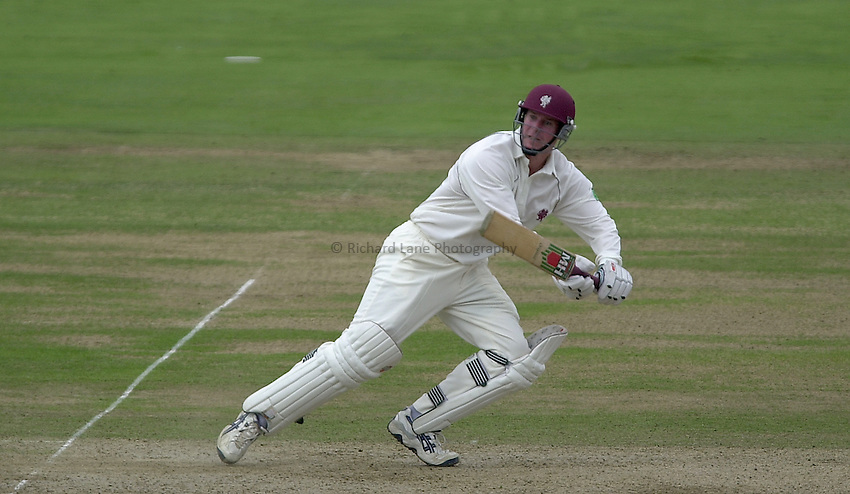 Photo Peter Spurrier.31/08/2002.Cheltenham & Gloucester Trophy Final - Lords.Somerset C.C vs YorkshireC.C..Somerset batting Keith Parsons