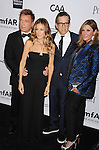 LOS ANGELES, CA - OCTOBER 11: Kevin Huvane, Sarah Jessica Parker and Kennenth Cole arrive at the amfAR 3rd Annual Inspiration Gala at Milk Studios on October 11, 2012 in Los Angeles, California.